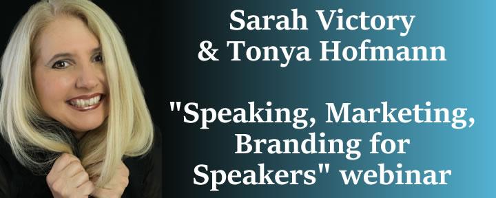 Webinar on Branding & Marketing as a Speaker